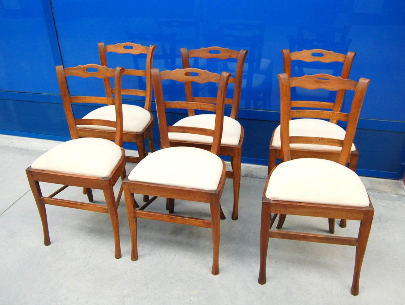 6 sedie 39 800 in noce campagnole piemontesi seduta for Mobili 800 italiano