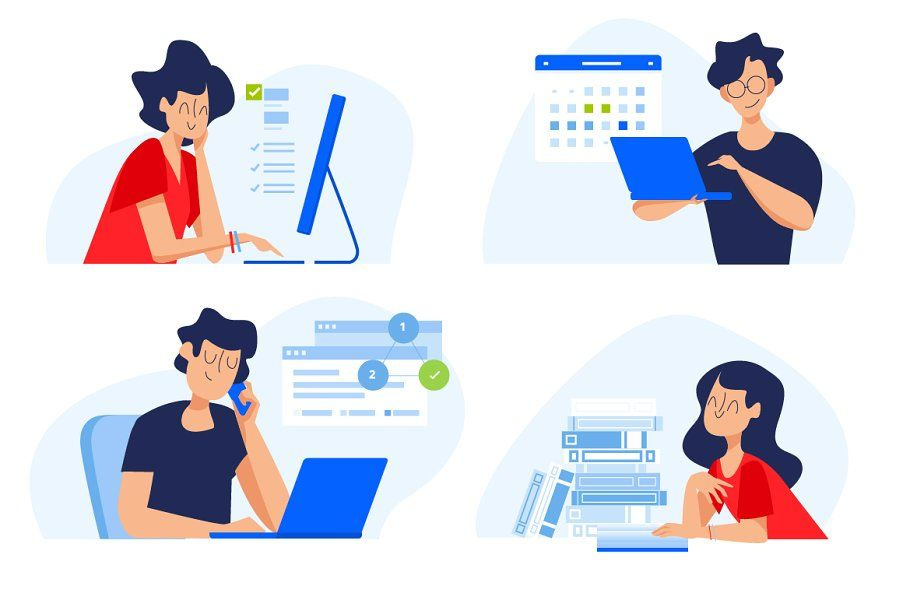 Education Illustrations Marketing Materials Webpage Design Concept Design
