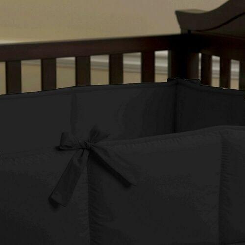 Black Crib Bumper | Solid Black Crib Bumper | Carousel Designs