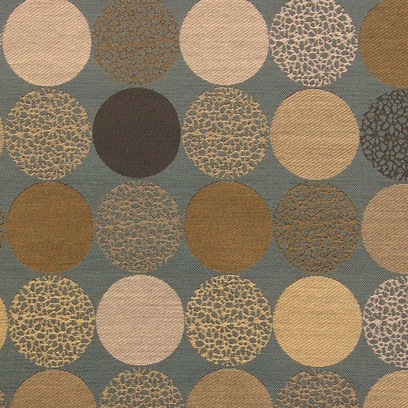 Bauble Color 44 Large Textured Circle Upholstery Fabric