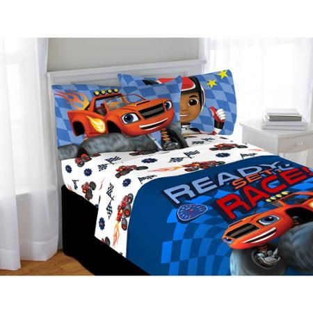 nickelodeon blaze and the monster machines high octane twin sheet