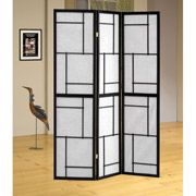 coaster 3 black panel room divider item 900102 walmart com fl rh pinterest com au