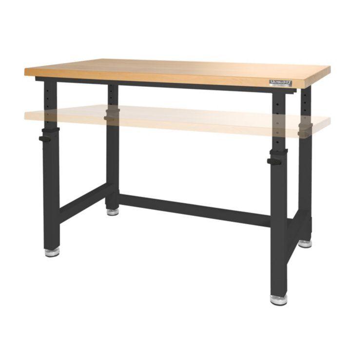 ultrahd adjustable height heavy duty wood top workbench jewelry rh pinterest com