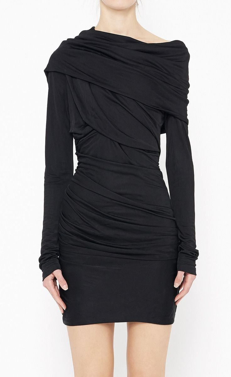 Black wrap dress off the shoulder haute couture pinterest wrap