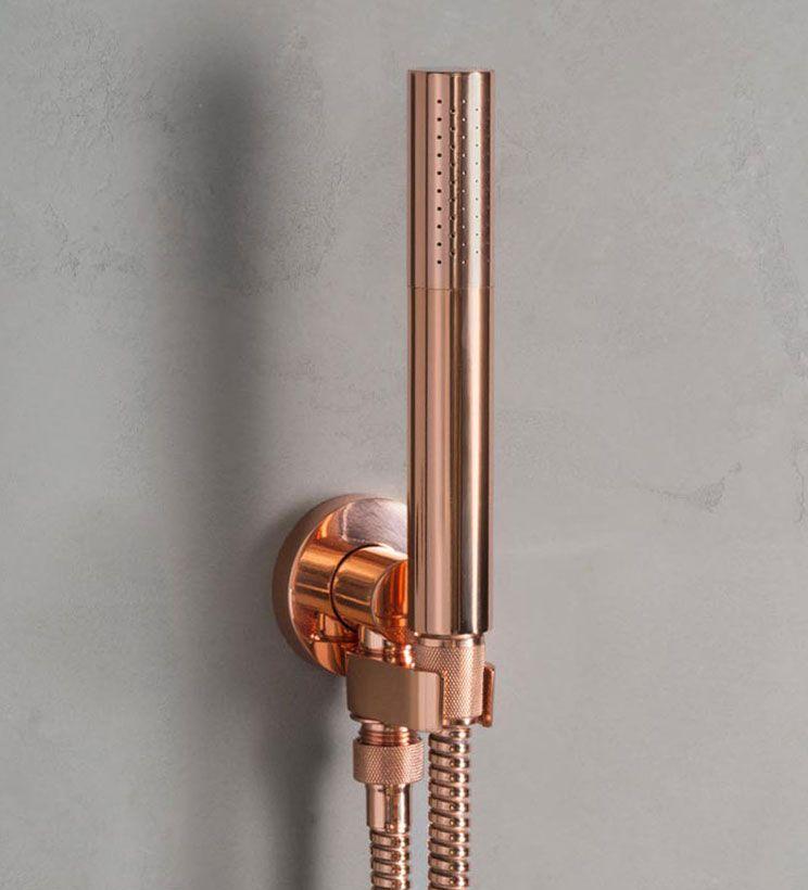 Zen Bathroom Faucets zen, zen43 in polished copper- wall mounted handshower set with