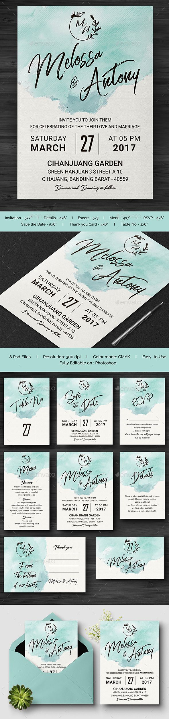 templates for wedding card design%0A  Wedding  Invitation  Print Templates Download here  https   graphicriver