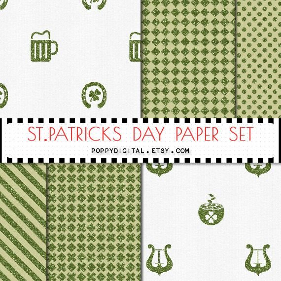 St. Patricks green digital paper { green background, green texture, st patricks printable, st patricks digital paper }