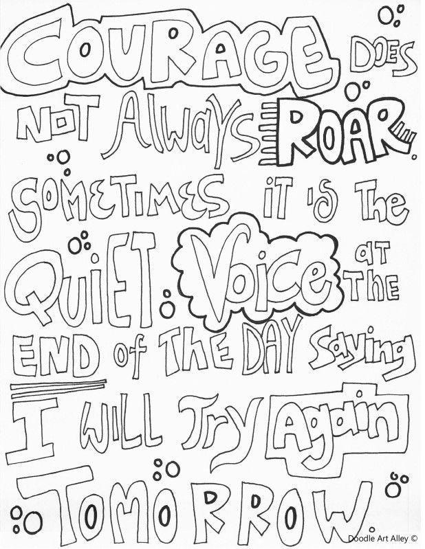 couragedoesnotalways.jpg | Coloring Pages | Pinterest | Mandalas ...