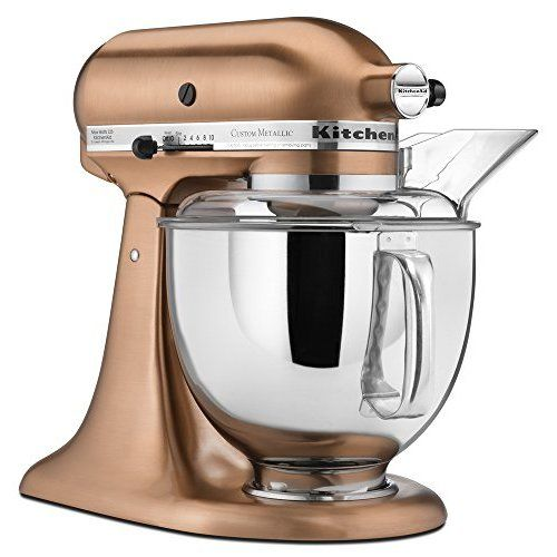KitchenAid KP26M1XCE Professional 600 Series 6 Quart Bowl Lift Stand Mixer,  Copper Pearl