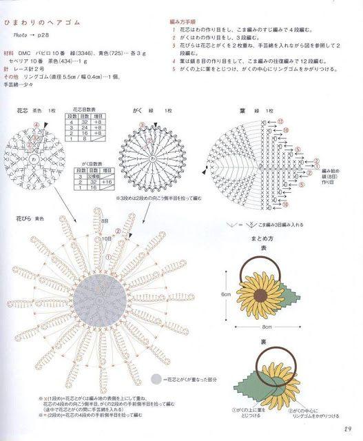 Patrón #731: Coleta de Margarita a Crochet ~ CTejidas [Crochet y Dos ...