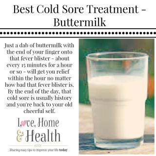 best cold sore treatment buttermilk health and beauty home rh pinterest com