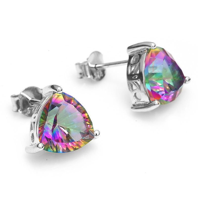 topaz pair sterling zirconia carat color multi products earrings mystic studs cubic silver