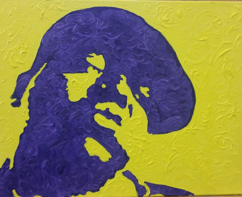 Biggie smalls christopher wallace art print painting rap