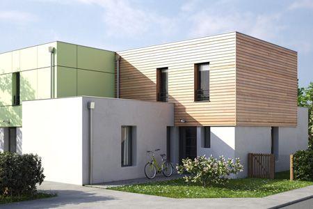 Image 3d extérieur programme jardin de lécrivain brest métropole habitat architecture dextérieur anoukis studio pinterest images 3d