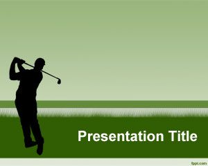 Free Golf Powerpoint Presentation Template With Great Golf Player
