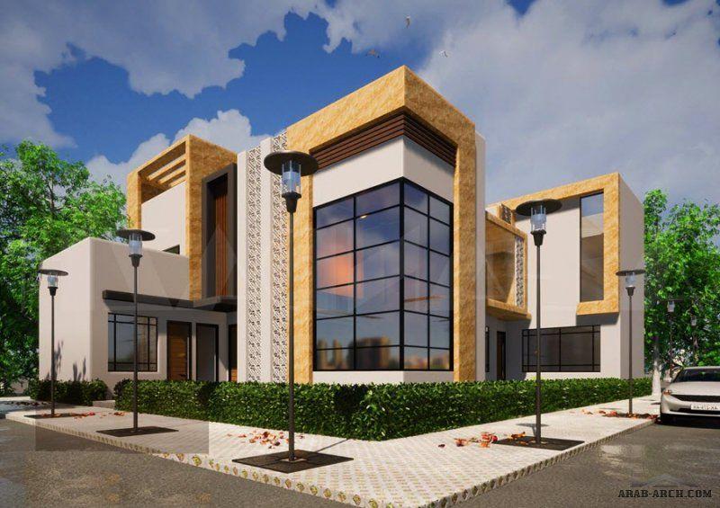 من اعمالنا مخطط و واجهة فيلا بحائل مساحة الارض 21م 25م من أعمال مكتب Al Andazh مكتب الاندازه للاستشارات اله House Layouts Family House Plans Modern House Plan