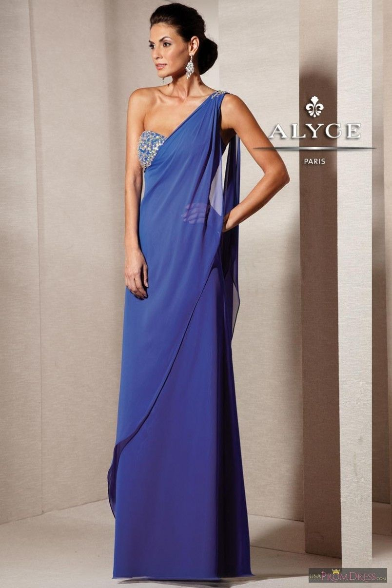 Alyce Paris Prom Dress 29584 - One shoulder, draped front with some ...