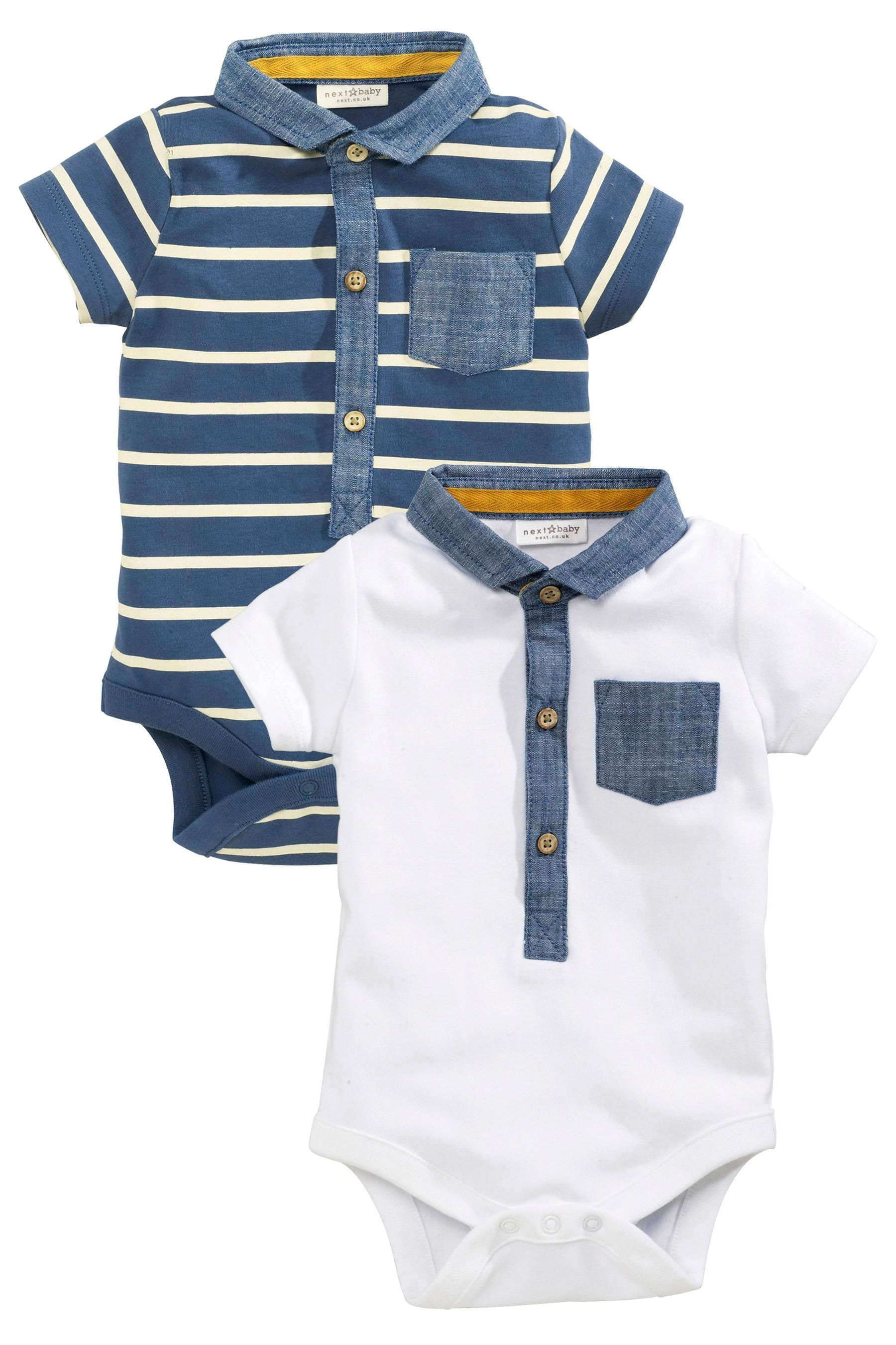 Buy Navy White Polo Bodysuits Two Pack 0mths 2yrs from the Next UK