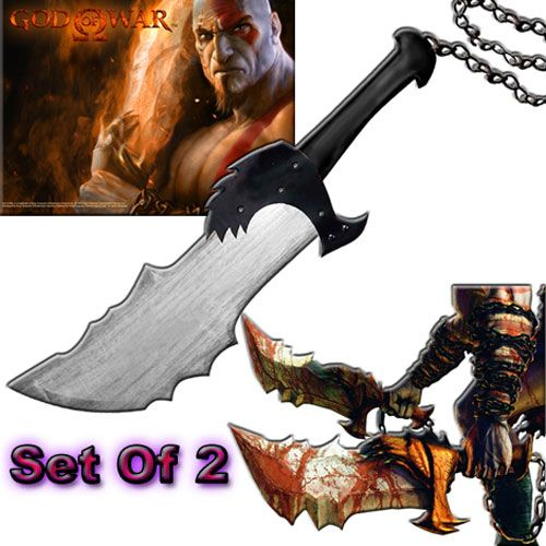 Kratos Playstation God of War Video Game Set of 2 Sword