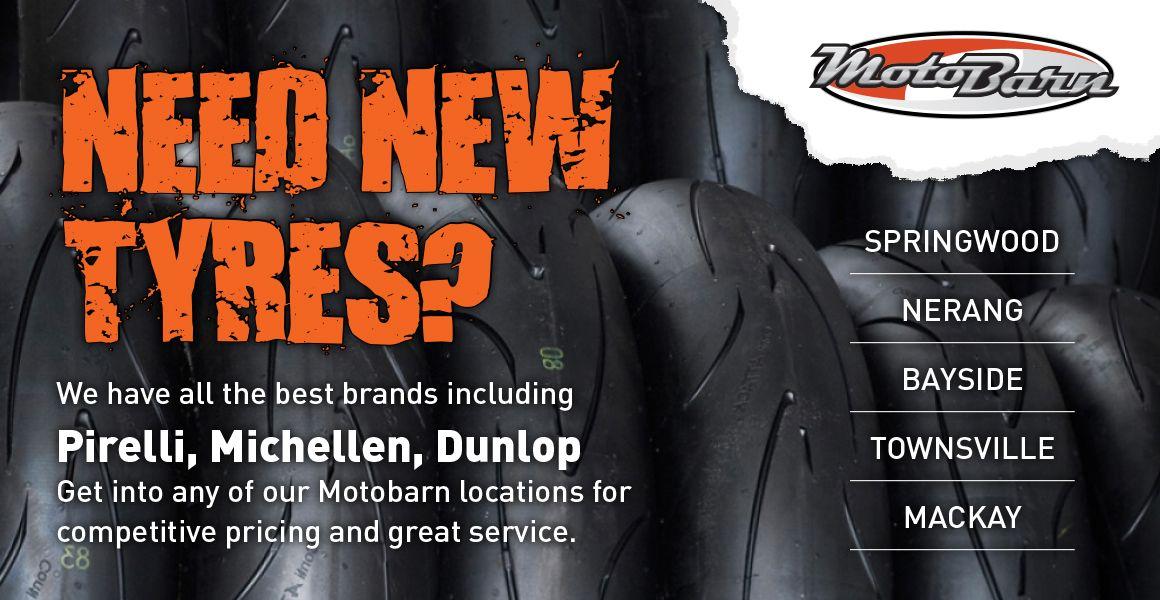 Need New Tyres?  Visit us @ motobarn.com.au #tyres #motorbikes #motorcycles #queensland #motorcycleaccessories #shoponline