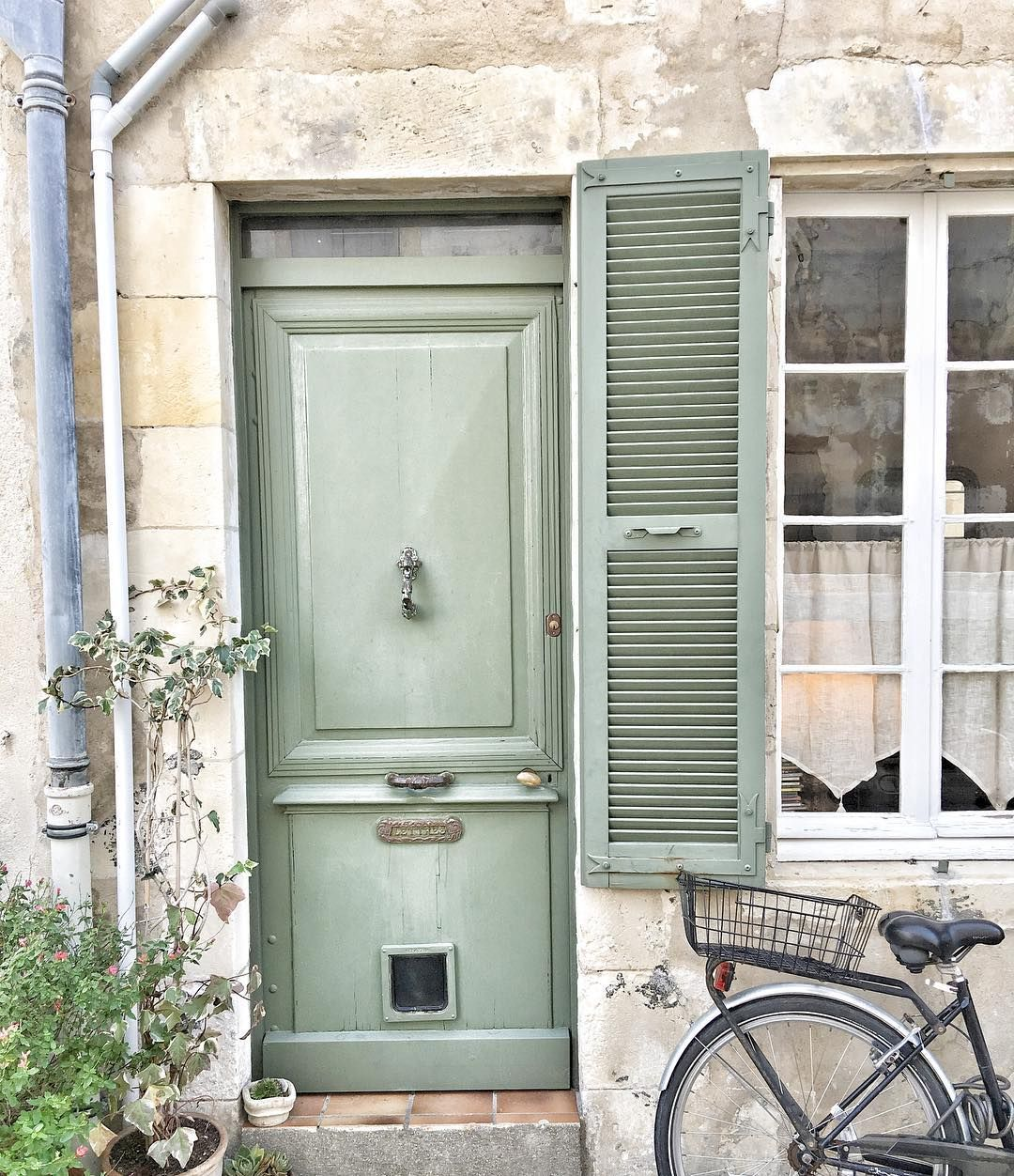 Traditional French Green Shutters