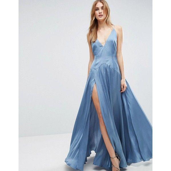 Aqua cami maxi dress