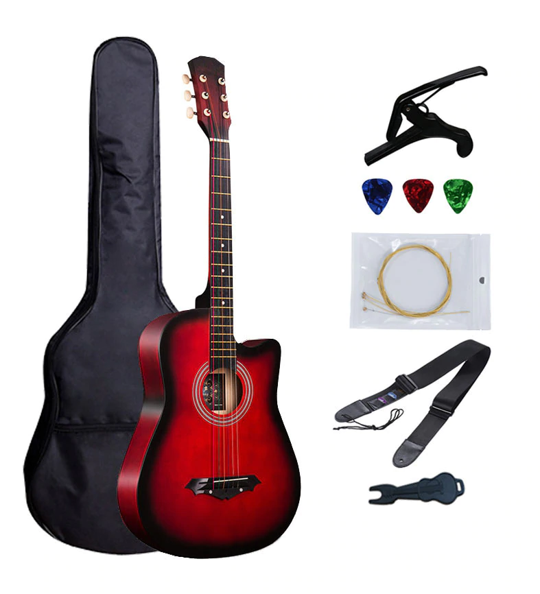 38 Inch Guitar Acoustic Guitar Beginner Musical Instruments Professiona Free 6 Pec Gifts Strings Capo Package 17 Co Guitar For Beginners Guitar Acoustic Guitar