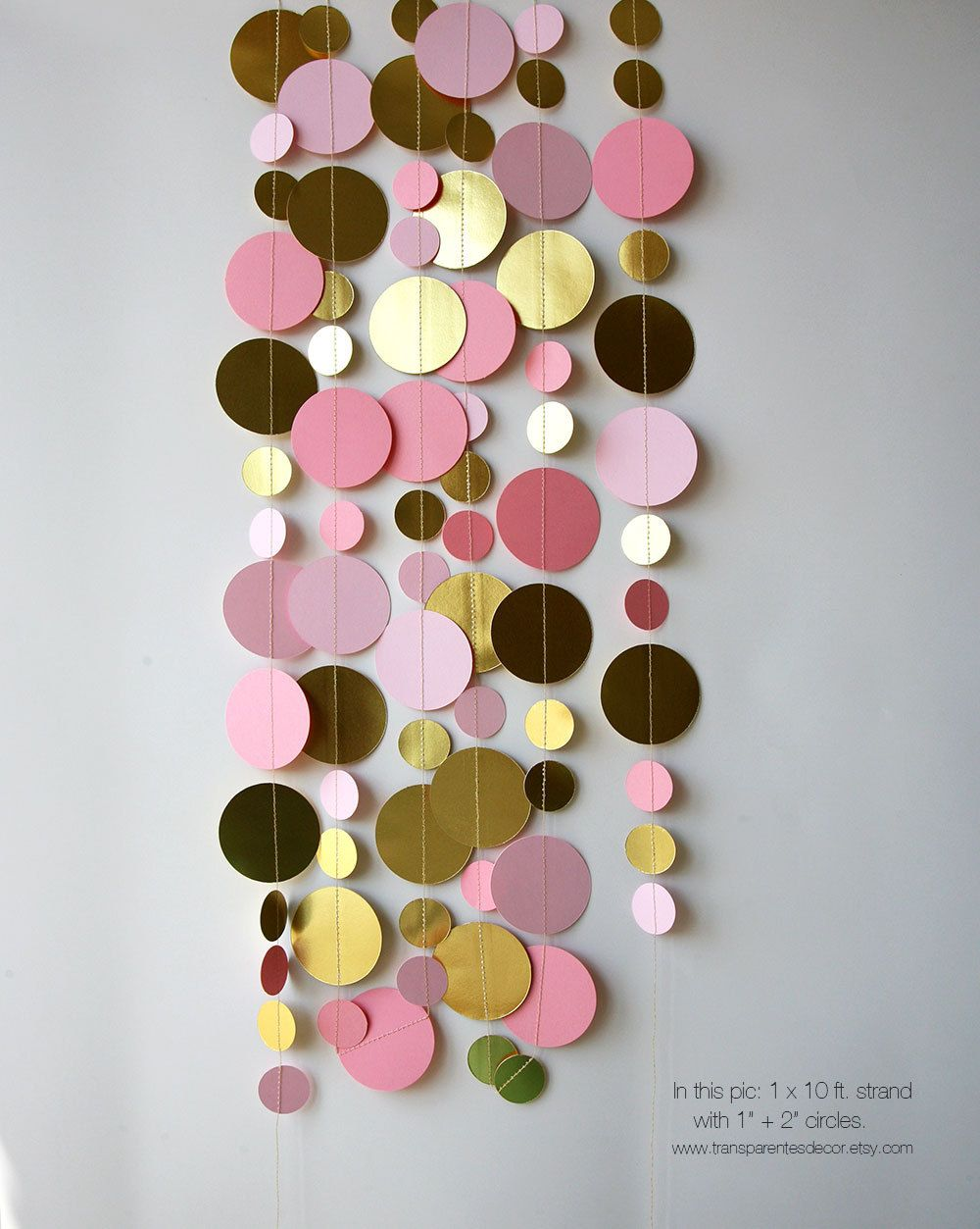 Wedding decorations gold and pink  Gold pink garland Gold pink wedding decor Wedding garland Bridal