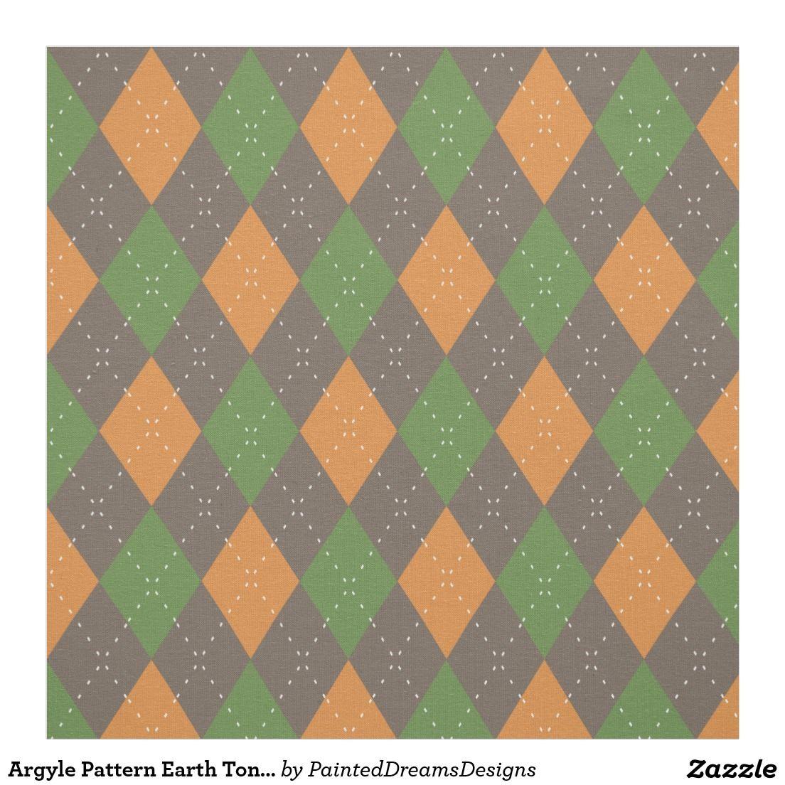 http://www.zazzle.com/argyle_pattern_earth_tones_fabric-256980887077359171