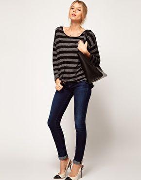 Oasis Long Sleeve Stripe T-Shirt - ASOS