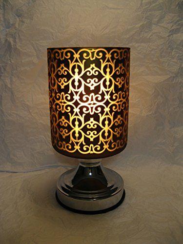 Christmas Brown Pattern Design Touch Sensitive Decorative Electric Glass Fragrance Lamp Aromatherapy Oil Warmerburner Night Light I Lamp Night Light Oil Warmer