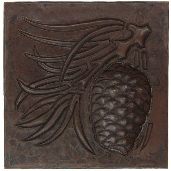 Copper Tile | Pinecone Design | Copper Sinks Direct