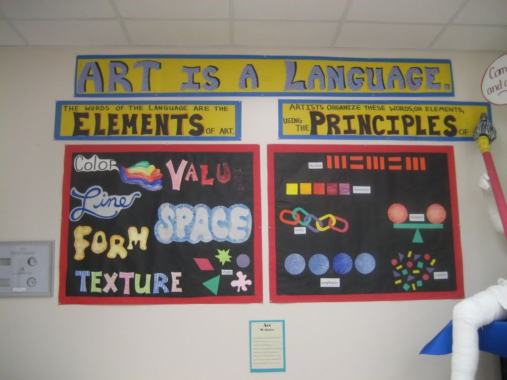 Elements And Organization Of Visual Arts : Art is a language great visual explanation of differences between