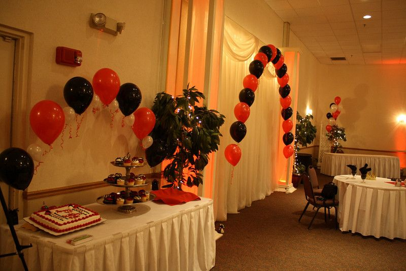 Red and Black Party Decorations Black and Red Birthday Party The