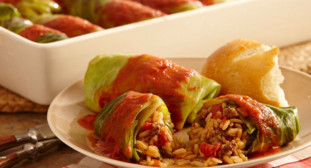 Add a Creole twist to stuffed cabbage roll recipes. A delicious dinner recipe, or enjoy as a cold weather meal any time of day.