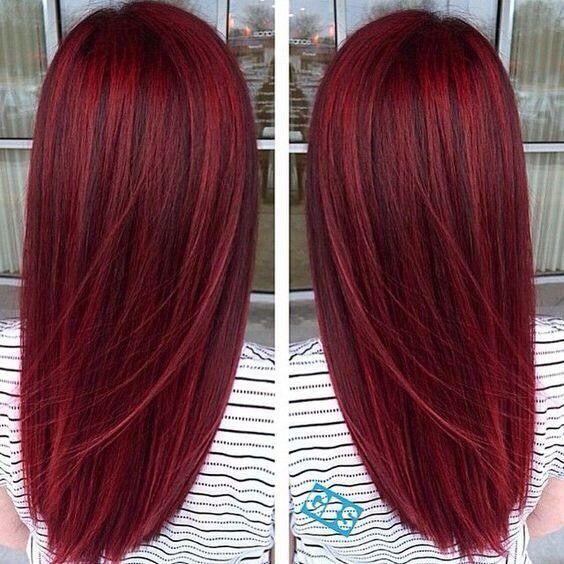 pretty dark red color cheveux pinterest cheveux couleur cheveux et coiffure. Black Bedroom Furniture Sets. Home Design Ideas