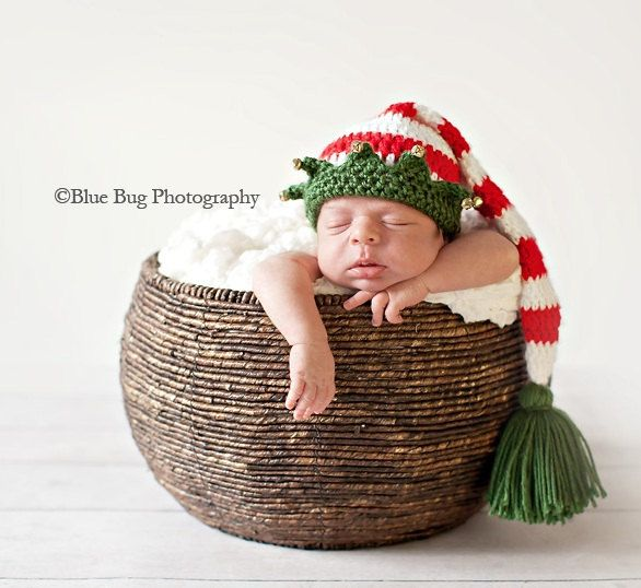 Pdf Crochet Pattern 025 Christmas Elf Hat With Bells Must Have