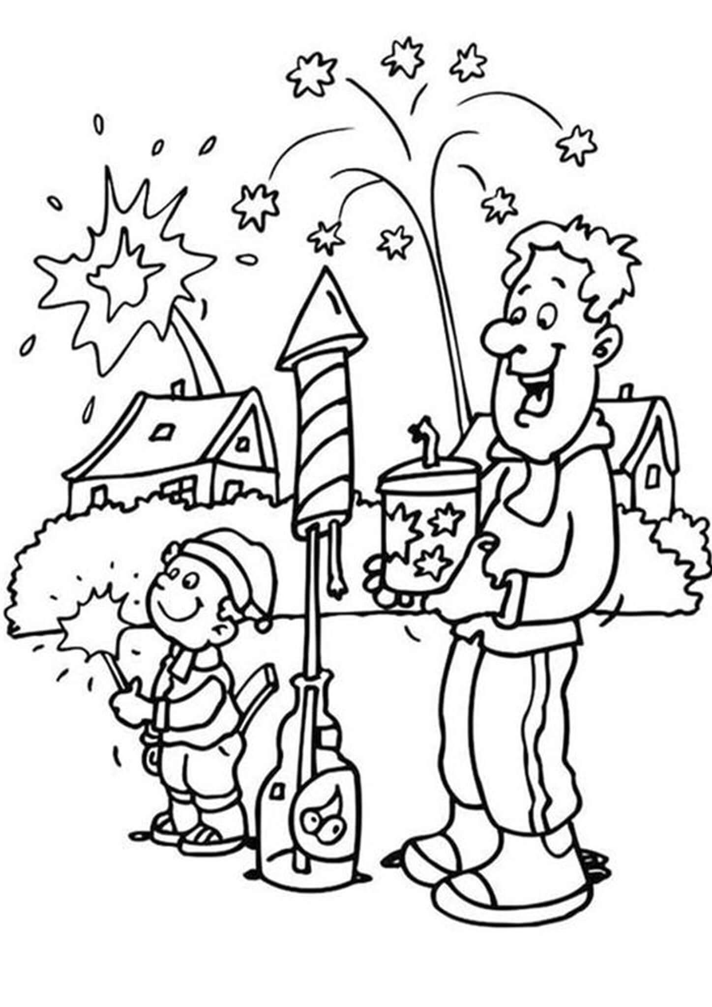 Free Easy To Print Happy New Year Coloring Pages New Year Coloring Pages Coloring Pages Online Coloring Pages