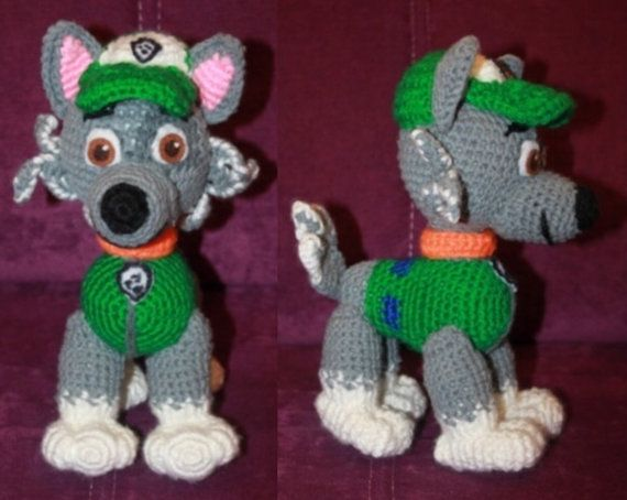Paw Patrol Rocky crochet toy pattern (English), PDF format ...