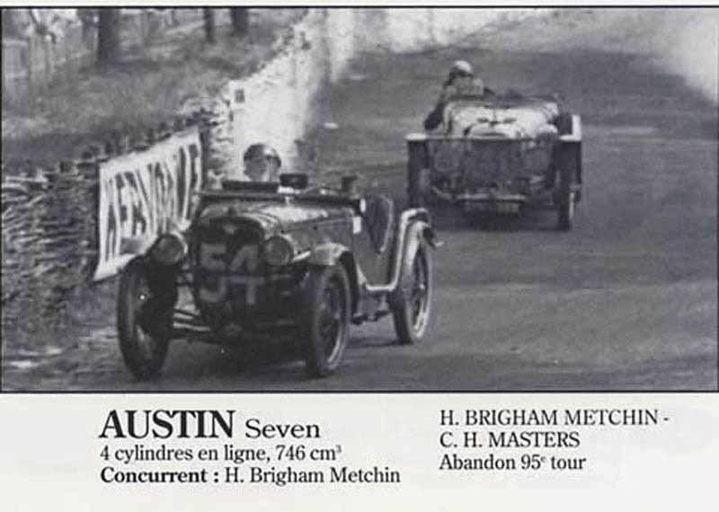 24H LE MANS 1934 - AUSTIN SEVEN   #54 -  Charles Metchim  - Cecil H. Masters