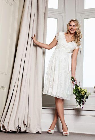 Los 10 mejores vestidos de novias para embarazadas | Moda y Belleza ...