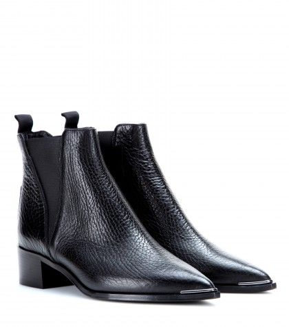 e284dca5b7bf structured chelsea boots. | Fashion inspo in 2019 | Leather ankle ...