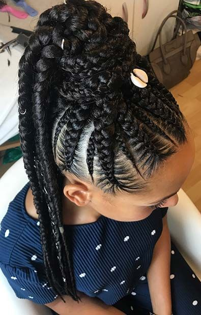 25 Elegant Lemonade Braided Ponytail Hairstyles 2019 For Black Women Cornrow Hairstyles Braided Ponytail Braided Ponytail Hairstyles
