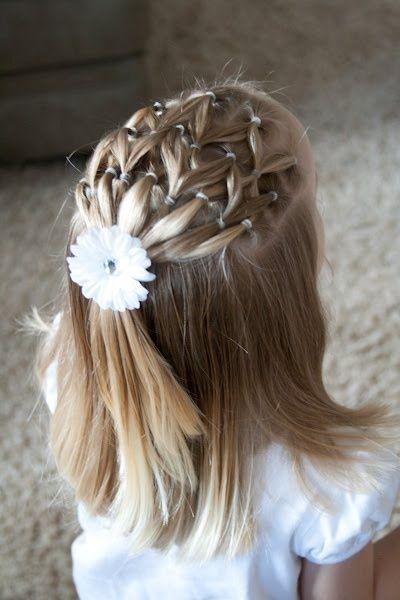 para Niñas Peinados para niñas, Peinados comunion y Peinados