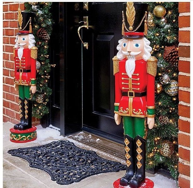 life size nutcracker 3ft indoor outdoor christmas toy soldier set 2 decoration vonmart911 nutcracker christmas - Life Size Nutcracker Outdoor Christmas Decorations