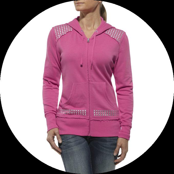 Morgan Zip Hoody | Rhinestone Clothing