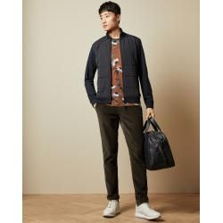 Photo of Quilted jacket with stand-up collar and zipper Ted BakerTed Baker
