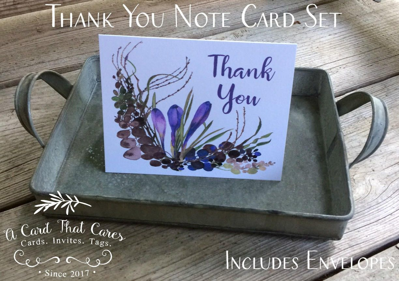 """thank you card • crocus • size a2 • 414"""" x 512"""" folded"""