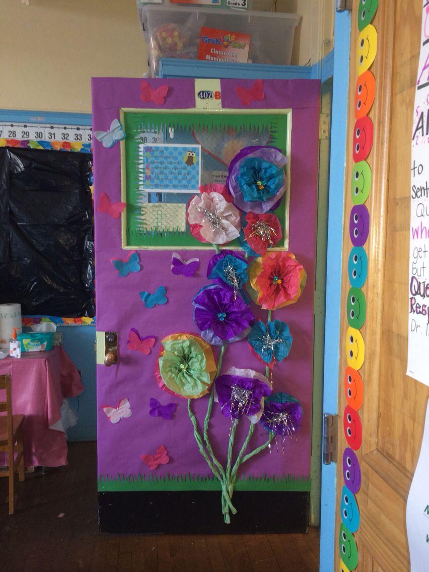 Spring Door Tissue Paper Flowers Tissue Paper Flowers Spring