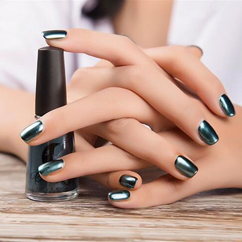 1x Shinning Metallic Mirror Effect Lacquer Dust Chrome Nail Tips Art ...
